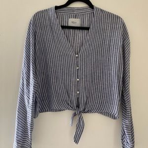 RAILS Cropped Tie Top, XS